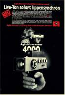 Reklame Werbeanzeige 1973 ,  Agfa Filmkamera Movexoom 4000 Synchro Sound  -  Live-Ton Sofort Lippensynchron - Film Projectors