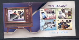 003 AUSTRALIA 2012. MINIATURE SHEET. TECNOLOGY. CARS. GPS. TELEPHONE. TV - 2010-... Elizabeth II