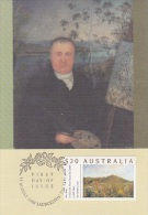 Australia 1990  Paiting A View Of The Artist's House And Garden, Maximum Card - Maximum Cards
