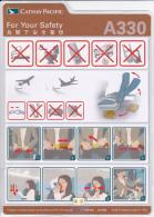 Thailande / Cathay Pacific / Airbus - A330 / Consignes De Sécurité / Safety Card - Safety Cards
