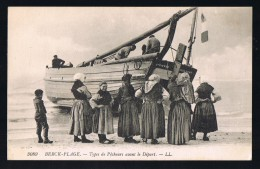 BERCK - PLAGE .Pêcheurs Avant Le Départ . > . - Berck