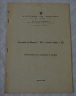 FERROVIE DELLO STATO RAILWAY ITALIAN LOCOMOTIVE DA MANOVRA E.321 E RIMORCHI MOTORE E 322 1962 - Unclassified