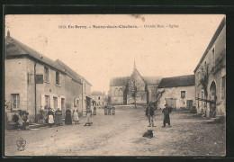 CPA Neuvy-deux-Clochers, Grande Rue, Eglise - Non Classés