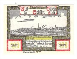 Notgeld Soldin   1 Mark     Mai/1921    1235.1 /2 - [11] Emissions Locales