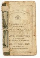 CHEVETOGNE - Carte D'identité De 1903. Carte Coupée En Deux, Bien Visible Sur Les Scans. - Cartes