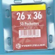 50 Pochettes Simple Soudure Fond Noir 26x36mm - Enveloppes Transparentes