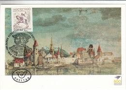 500 Ans De La Poste - Chevaux - Autriche - Carte Postale De 1990 - Oblitération Spéciale - 1945-.... 2nd Republic