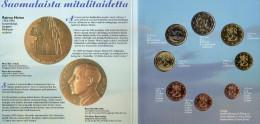 Blister EURO Finnland 1999 Prägeanstalt Helsinki Stg. 44€ Von R. Heino Stempelglanz Staatlichen Münze Set Coins Of Soumi - Finland