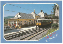 TRAIN Italie - TRENO Italia  - Trenino Del Renon - SOPRABOLZANO BOLZANO COLLALBO OBERBOZEN KLOBENSTEIN (autorail,tramway - Gares - Avec Trains