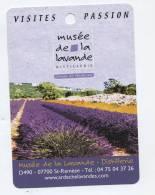 Fiche Visite Passion Musee De La  Lavande - Advertising