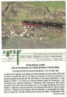 TRAIN Italie - TRENO Italia  - VICOMORASSO  - Train Sp�cial COPEF - automotrice A29 et remorque B22 - autorail, tramway