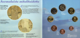 Blister EURO Finnland 2001 Prägeanstalt Helsinki Stg 52€ Von P.Mäkinen Stempelglanz Staatlichen Münze Set Coins Of Soumi - Finland