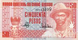 BILLET # GUINEE BISSAU # 50 PESOS # 1990 # PICK 10 #  NEUF # PANSAU NA ISNA # - Guinea-Bissau