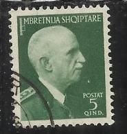 ALBANIA 1939 - 1940 5 Q TIMBRATO USED - Occ. Allemande: Albanie
