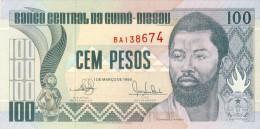 BILLET # GUINEE BISSAU # 100 PESOS # 1990 # PICK 11 #  NEUF # DOMINGOS RAMOS # - Guinea-Bissau