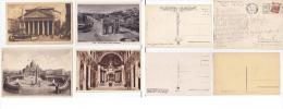 Roma A128 4 Cartoline (marchio Ferrovia) - Roma (Rome)