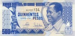 BILLET # GUINEE BISSAU # 500 PESOS # 1990 # PICK 12 #  NEUF # FRANCISCO MENDES # - Guinea-Bissau