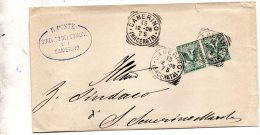 1906  LETTERA CON ANNULLO CAMERINO MACERATA - 1900-44 Victor Emmanuel III