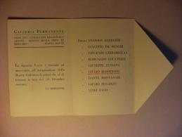 """Cartolina Invito""""Galleria Permanente-Sede Del Sindacato Regionale Artisti.Sezione Privincia BERGAMO""""1929(Masseroni) - Non Classificati"""