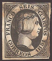 ESPAÑA 1850 - Edifil #6 - VFU - 1850-68 Reino: Isabel II