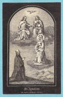 S. IGNAZIO DI LOYOLA  -  Mm. 85X130 - E - A - ANNO 1858 -  INCISIONE - Religion & Esotérisme