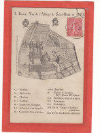 ROUEN (76) / EDIFICES / ABBAYE / PLANS / Rouen Vue De L'Abbaye De Saint-Ouen En 1662 - Rouen