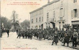 DOCELLES (Vosges 88) - Militaires Du 3e Bataillon Du 82e Régiment De Chasseurs à Pied En Manoeuvres Avenue De La Gare. - Autres Communes