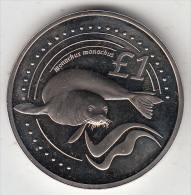 CYPRUS - Seal, Monachus Monachus, Coin 1 Pound, 2005 - Cyprus