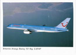 Thème -  Avion -  Britannia Airways Boeing 757 Reg G BYAP - VOIR ETAT - 1946-....: Moderne