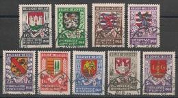 Nrs 538/546 Wapenschilden/Armoiries Des 9 Chefs Lieux De Provance  Gestp/oblit - Oblitérés