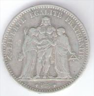 FRANCIA 5 FRANCS 1876 AG SILVER - Francia