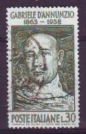 Repubblica Italiana, 1963 - Gabriele D'Annunzio - Usato° - 1946-.. Republiek