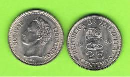 VENEZUELA - 25 Centimos 1990  KM50 - Venezuela
