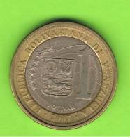 VENEZUELA -  1 Bolivar  2007 BIMETAL - Venezuela