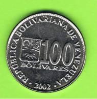 VENEZUELA -  100  Bolivar  2002  KM83 - Venezuela