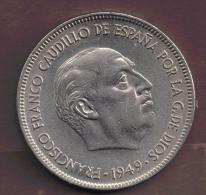 ESPANA 5 PESETAS 1949 (50) - [ 5] 1949-… : Regno