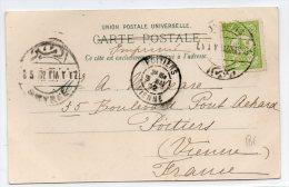 1902 - CP De SMYRNE / IZMIR (TURQUIE) Pour POITIERS - Storia Postale