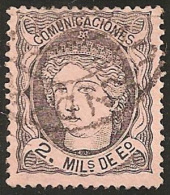 ESPAÑA 1870 - Edifil #103 - VFU - Usati