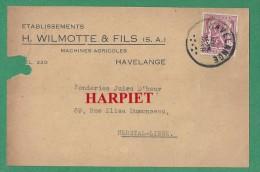 CP des Etablissements WILMOTTE & Fils � HAVELANGE - 1948