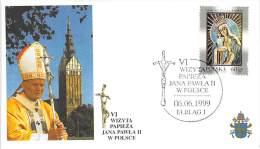 POLOGNE  CATHOLIQUE VOYAGE  PAPE  JEAN PAUL II   Pope John Paul II Papst Johannes Paul II  PAPA Jonas Paulius II - Used Stamps