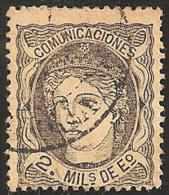 ESPAÑA 1870 - Edifil #103 - VFU - 1868-70 Provisional Government