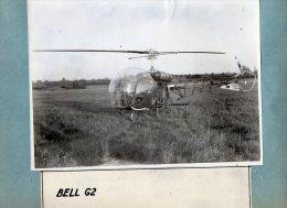 AVIATION  -  PHOTO  ORIGINALE  -  HELICOPTERE   BELL  G2   -   Format Photo Uniquement 23cm X 17cm - Luchtvaart