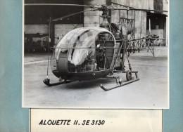 AVIATION  -  PHOTO  ORIGINALE  -  HELICOPTERE   ALOUETTE  II - SE  3130    -   Format Photo Uniquement 23cm X 17cm - Luchtvaart