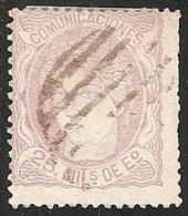 ESPAÑA 1870 - Edifil Esp #106 - VFU - 1868-70 Provisional Government