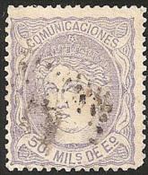 ESPAÑA 1870 - Edifil #107 -  VFU - 1868-70 Provisional Government