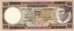 BILLET # GUINEE EQUATORIALE # 50 EKUELE  # 1975 # PICK 5 A   #  NEUF # - Guinea Ecuatorial