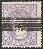ESPAÑA 1870 - Edifil #107 Barrado - 1868-70 Gobierno Provisional