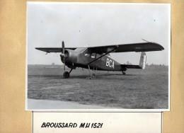 AVIATION  -  PHOTO  ORIGINALE  -  BROUSSARD  MH 1521 -   Format Photo Uniquement 23cm X 17cm - Luchtvaart