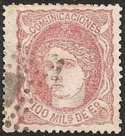 ESPAÑA 1870 - Edifil #108 - VFU - 1868-70 Provisional Government