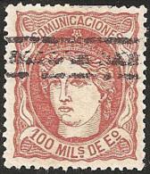 ESPAÑA 1870 - Edifil #108 Barrado - 1868-70 Gobierno Provisional
